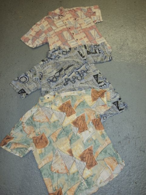 Vintage 90s Crazy Viscose Pattern Shirts Mix