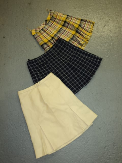 Vintage Pleated Skirts