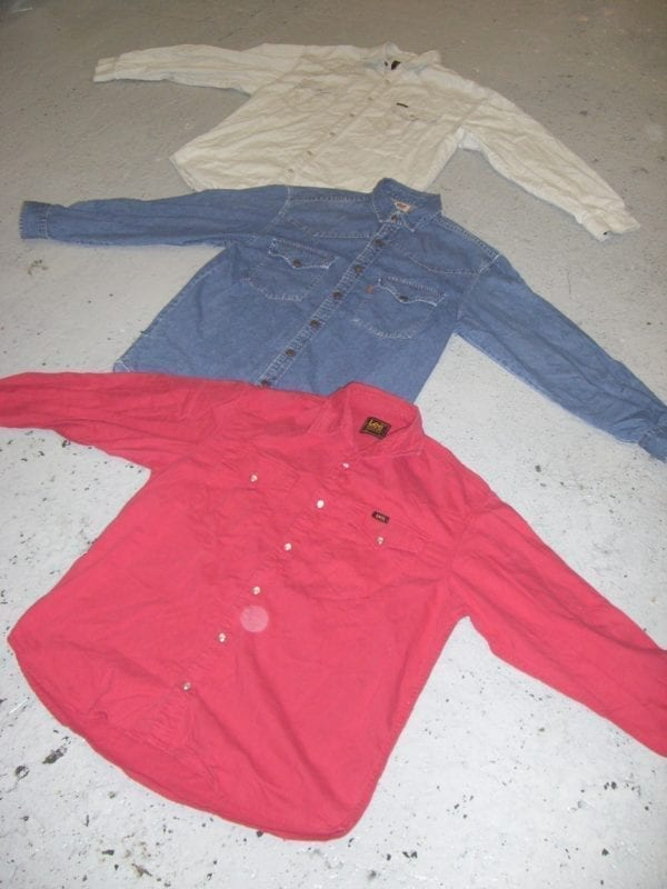 Vintage Coloured-Denim Shirts