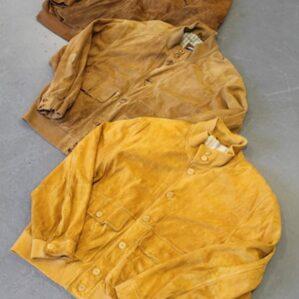 Vintage Suede Bomber-Jackets