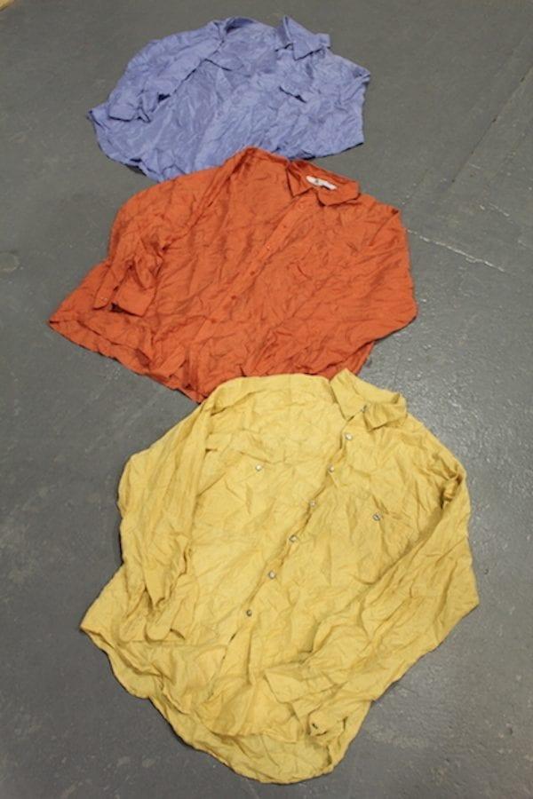 Vintage Plain-Silk Shirts