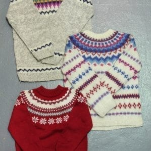 Vintage Snowflake Sweaters