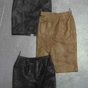 Vintage Leather Skirts