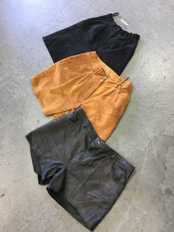 Vintage Leather/Suede Shorts