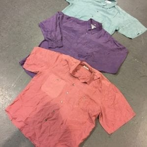 Vintage Plain-Silk Shirts
