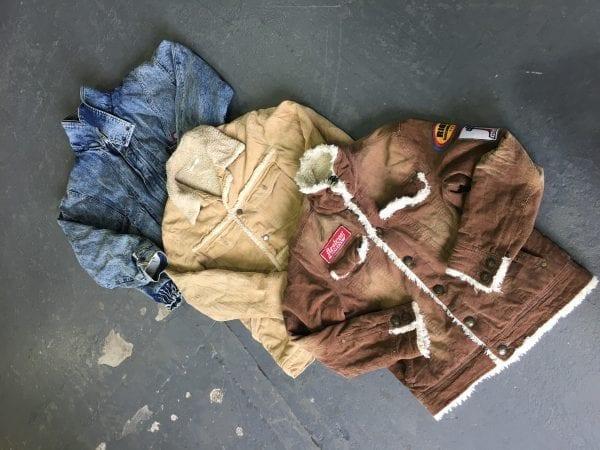 Vintage Fleece-Lined Denim Jackets