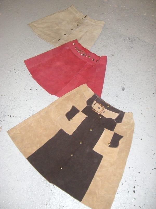 Vintage Suede Skirts