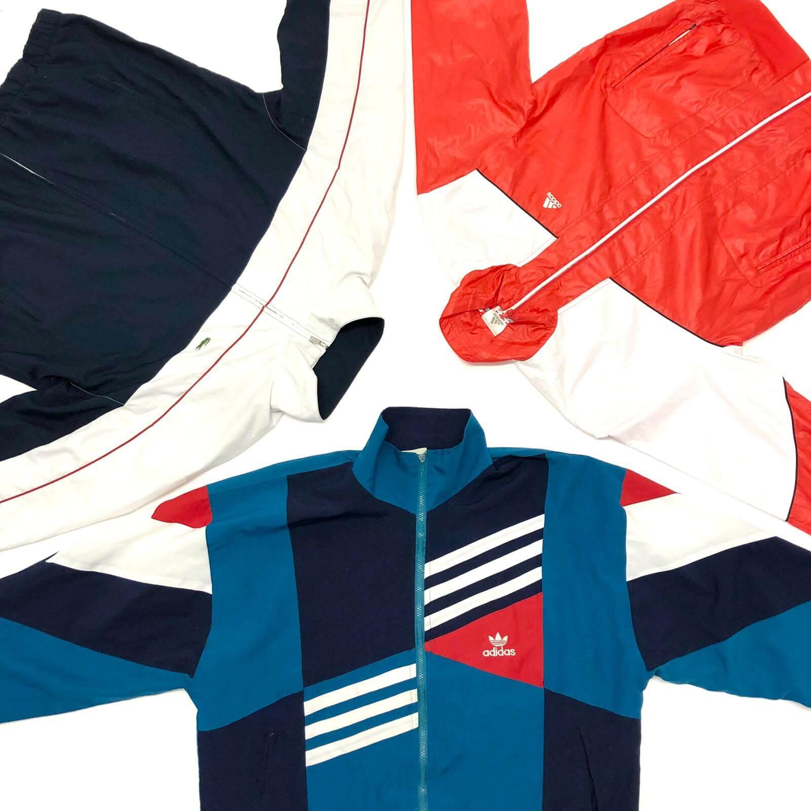 Vintage 90's Adidas Puma Nike Track/Shell Tops Mix