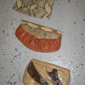 Vintage Faux-Skin Bags