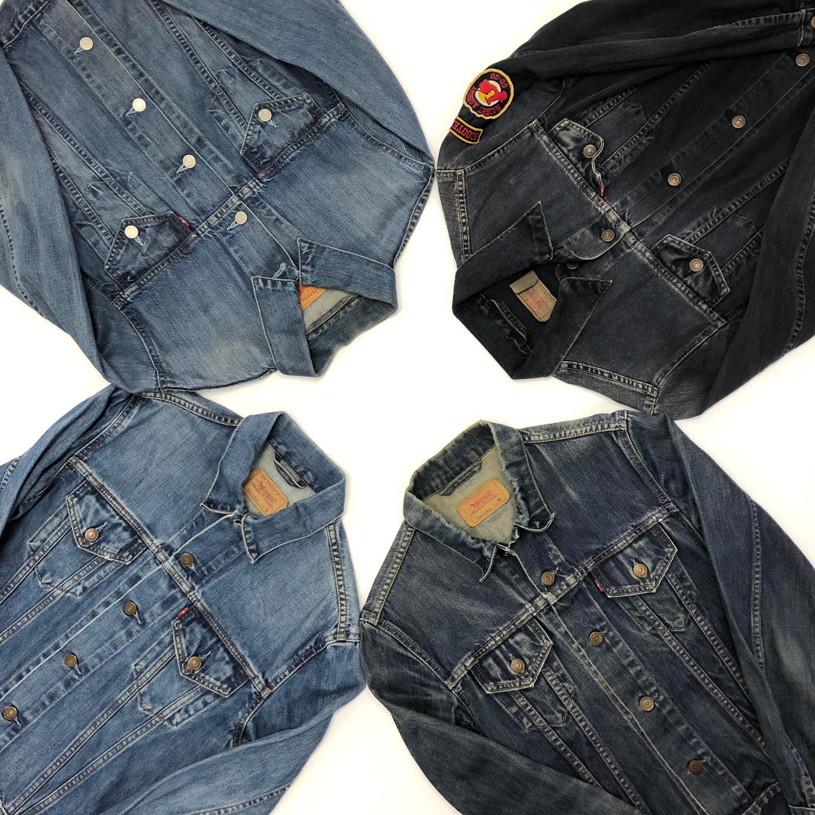 Vintage Levis Lee Wrangler Denim Jacket Mix PER KILO