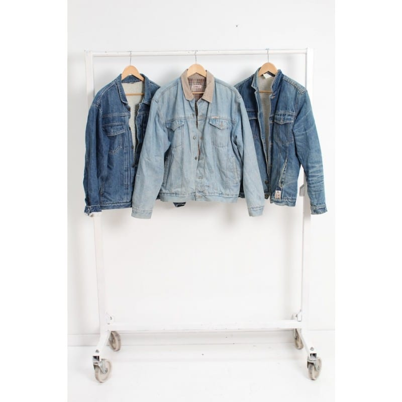 Vintage Unbranded Fleece Lined Denim Jacket