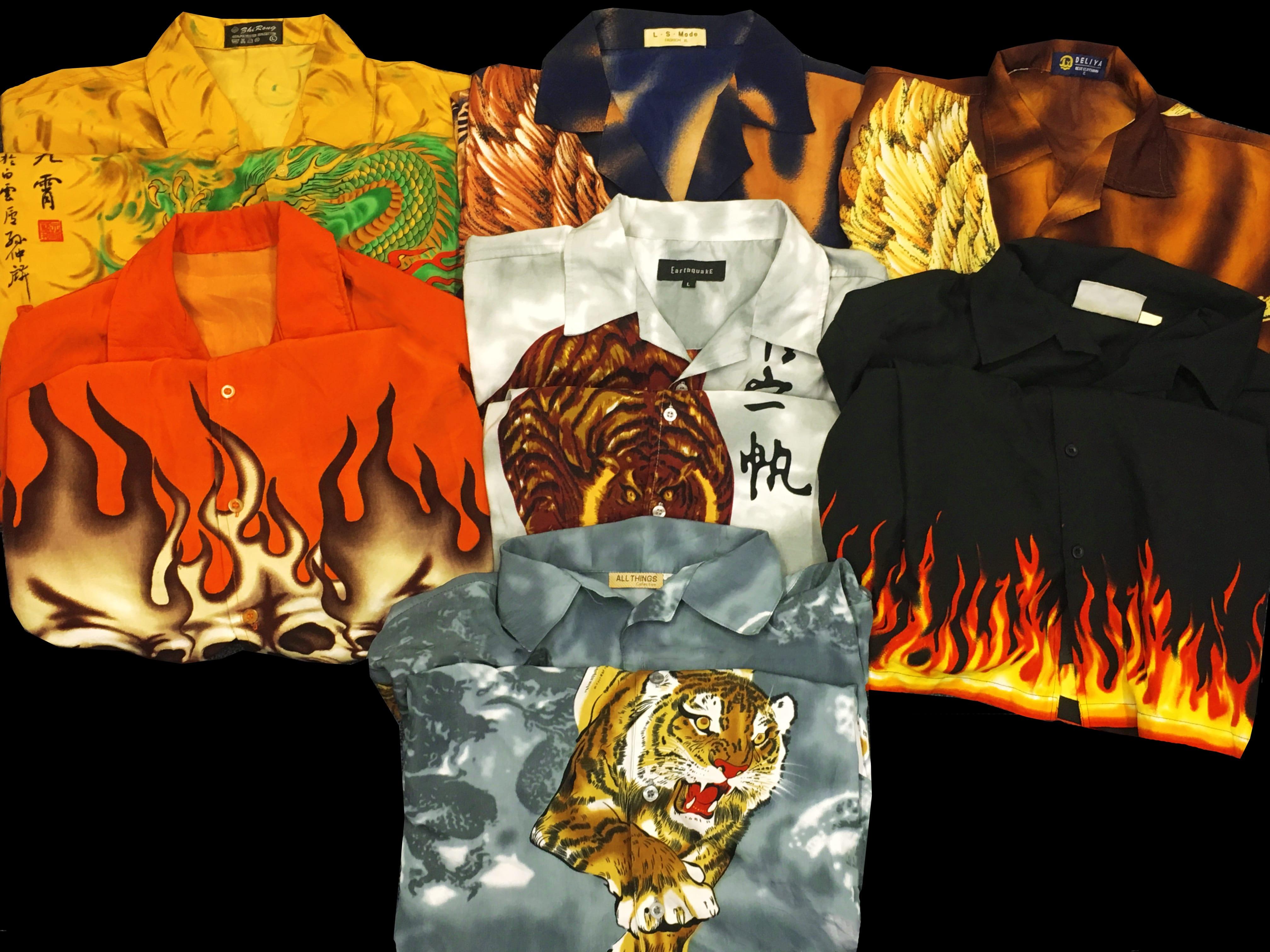 10 x Vintage Dragon Shirts