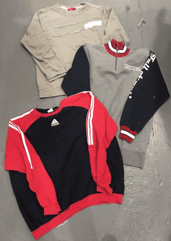 100 x Vintage Branded Sports Sweaters