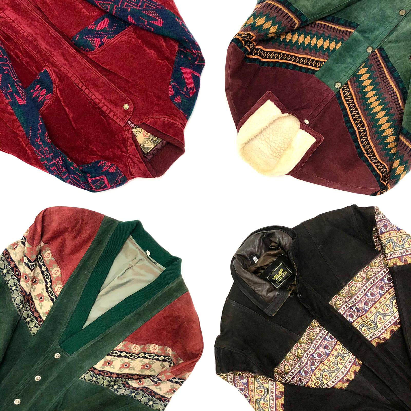 Vintage Aztec Inca Jacket Mix