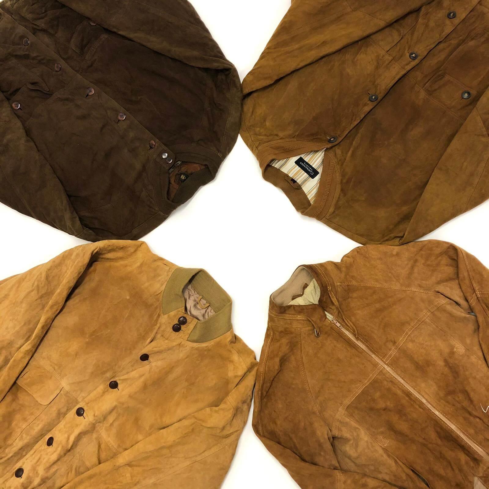 Vintage Suede Bomber Jackets